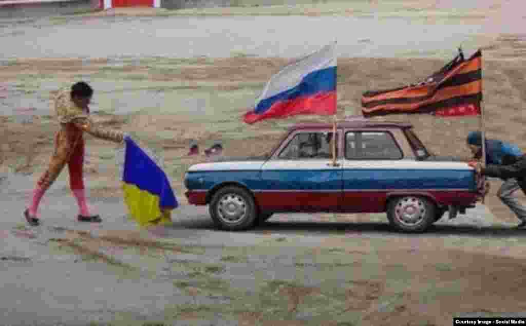 Ukraine -- Internet mem about separatists / Інтернет мем на сепаратистів