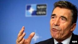 НАТО бас хатшысы Андерс Фог Расмуссен. Брюссель, 1 қыркүйек 2014 жыл.