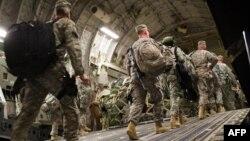 Американските војници на заминување од Ирак.