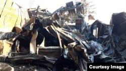 Сгоревший магазин