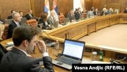 Sednica Vlade Srbije na kojoj je podržan sporazum sa Kosovom, 22. april 2013.