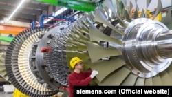 Газовая турбина Siemens.