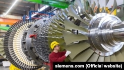 Газовая турбина Siemens (архивное фото)