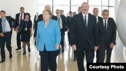 Ադրբեջանի նախագահ Իլհամ Ալիևն ու Գերմանիայի կանցլեր Անգելա Մերկելը Բաքվում, 26-ը օգոստոսի, 2018թ.