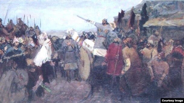 Babək üsyanı. Rəssam: Səttar Bəhlulzadə, 1939-1940