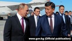 Встреча президента РФ Владимира Путина и премьер-министра КР Сооронбая Жээнбекова. 28 февраля 2017 г.
