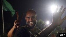 Саиф әл-Ислам Каддафи. Триполи, Ливия, 23 тамыз 2012 жыл.