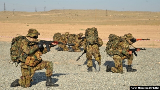 Special forces from Russia, Armenia, and other CIS countries take part in joint military exercises at the Marshal Baghramian training center near Yerevan. (file photo)