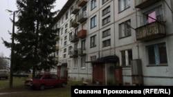 Типичная застройка военного городка Смуравьево в Псковской области
