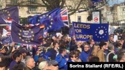 Протест против выхода Великобритании из ЕС в Манчестере (архивное фото)
