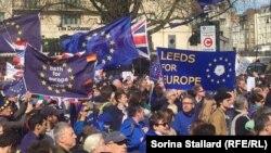 Protest anti-Brexit în Manchester