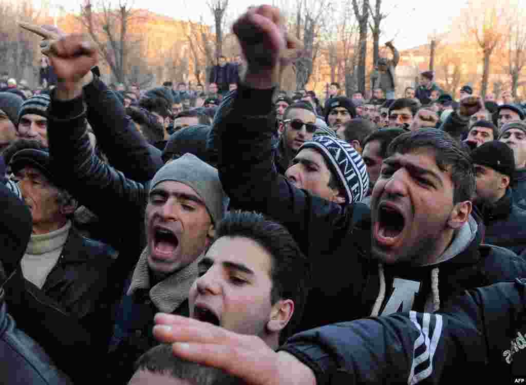Акция протеста в Гюмри. 15 января