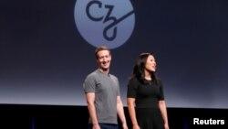 Марк Цукерберг и его жена Присцилла Чан (Сан-Франциско, 21 сентября 2016 года)