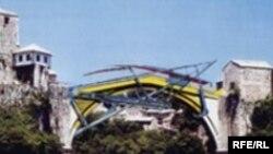 plan željezne konstrukcije na Starom mostu
