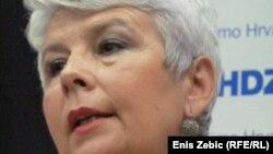 Jadranka Kosor, bivša premijerka i predsjednica HDZ-a