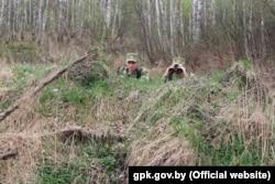 Пограничники на белорусско-украинской границе