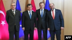 Jean-Claude Juncker, Ahmet Davutoğlu, Donald Tusk və Martin Schulz