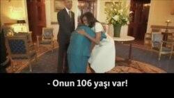 Obama ilə görüşüb deyə sevincindən rəqs edən 106 yaşlı qoca