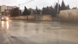 Lökbatanın küçələri yağışdan sonra [Video]