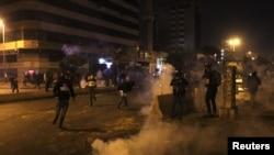 Акция протеста в Триполи, Ливан, 27 января 2021 года