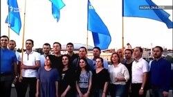 Кырымтатар яшьләре Казанда милли байрак көнен бәйрәм итте