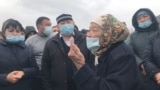 Kazakhstan - Residents of Altyntobe village in Shymkent protests over arrest of local factory's director. April 4
