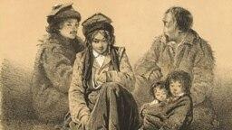 Калмыки, рисунок 1849 года
