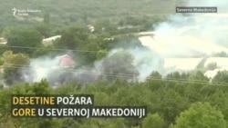 Desetine požara gore u Severnoj Makedoniji