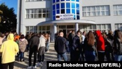Protest of the students in Debar, North Macedonia