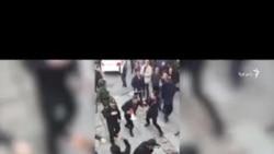 درگیری ماموران انتظامی با معترضان در کرمانشاه