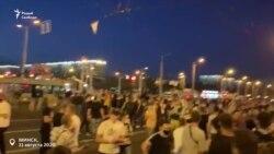 Вторая ночь протестов в Минске