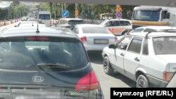 Автомобильная пробка в Симферополе 16 сентября 2021 года