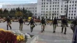 Жесткий разгон акции протеста в Хабаровске