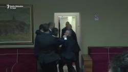 Incident u Skupštini Crne Gore