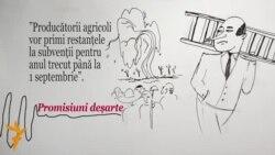 """Valeriu Streleț a descris drept """"promisiuni deșarte"""" propriile promisiuni făcute agriculturilor"""