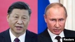 Кинескиот претседател Си Џинпинг и рускиот претседател Владимир Путин