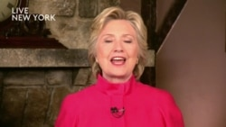 Hillary Clinton Welcomes 'Biggest Crack In Glass Ceiling'