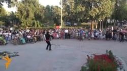 В Бишкеке ЛОВЗ провели флешмоб