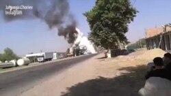 Tacikistanda yanacaqdoldurma məntəqəsində qaz çəni partlayıb