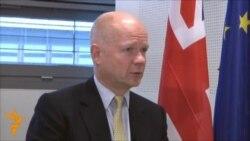 """William Hague: """"Biz İranda rejim dəyişikliyinə can atmırıq"""""""