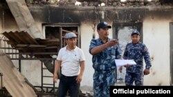 Сгоревший дом в одном из сел в Баткенской области.