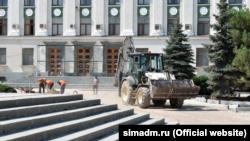 Реконструкція площі Леніна в Сімферополі, серпень 2021 року