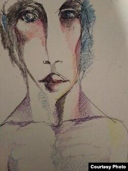 Нявольніцкі рысунак Вольгі Семчанкі з цыклю «7 дзён бяз сонца»