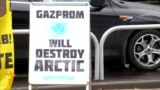 Greenpeace Activists Continue Protests Against Gazprom