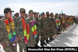 سربازان آموزشدیده ارتش افغانستان در پکتیا، ۲۰۲۱