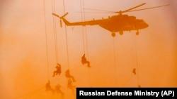 Російські десантники на військових навчаннях, вересень 2020 року