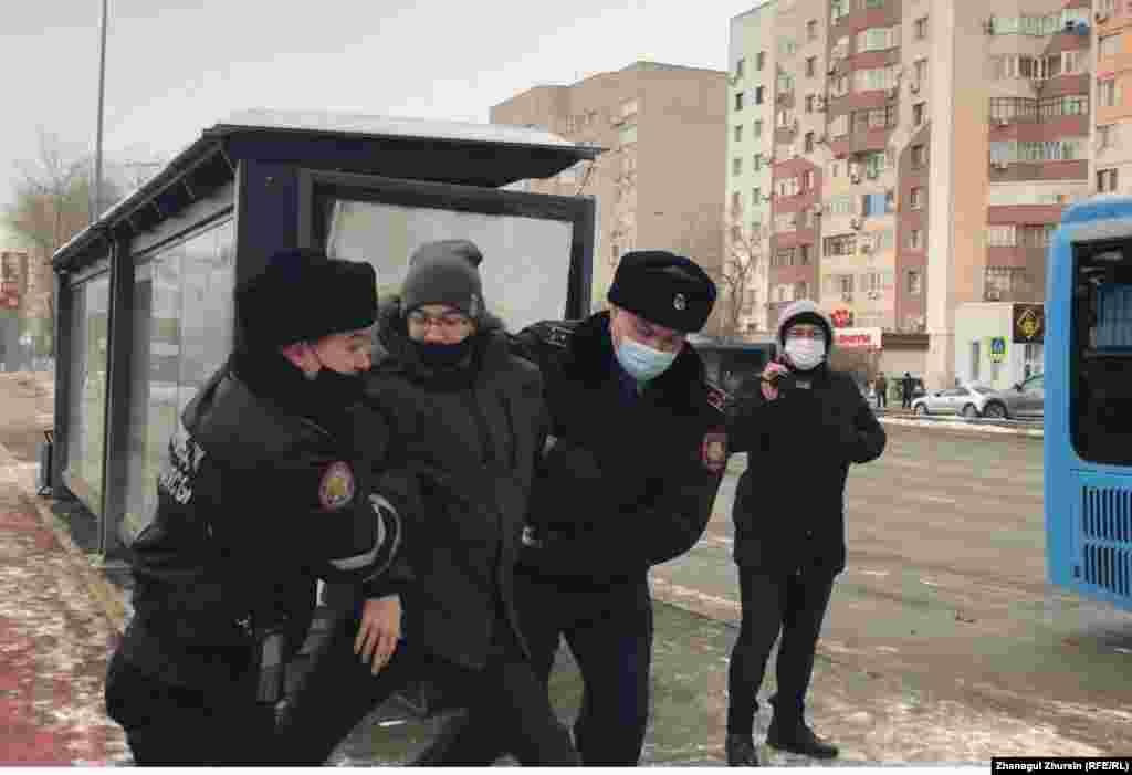 Letartóztatás Aktobe városában.