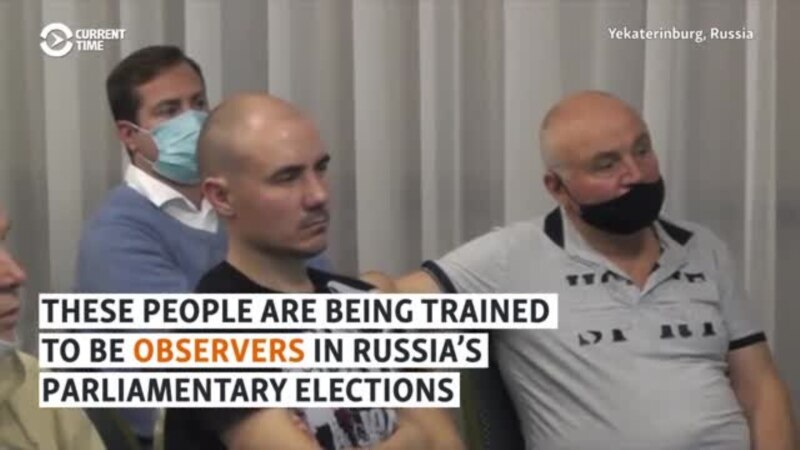 'It's Scary': Russian Election Observers Train For Challenges Ahead Of Vote