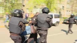 Мітинг проти Аброськіна та Голубана: силовики провели затримання (відео)