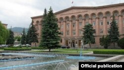 Armenia - The Lori provincial administration building in Vanadzor, June 14, 2018.